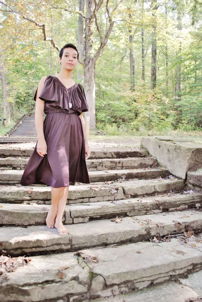 Sam Lynne Jones shot at Hinckley Reservation in vintage courtesy of The Rag Refinery in Cleveland, OH.